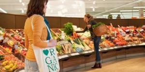 Women doing shopping in supermarket