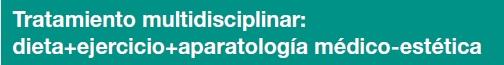 Tratamiento multidisciplinar en IMEO: dieta+ejercicio+aparatología médico-estética