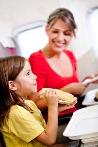 comer en el avión