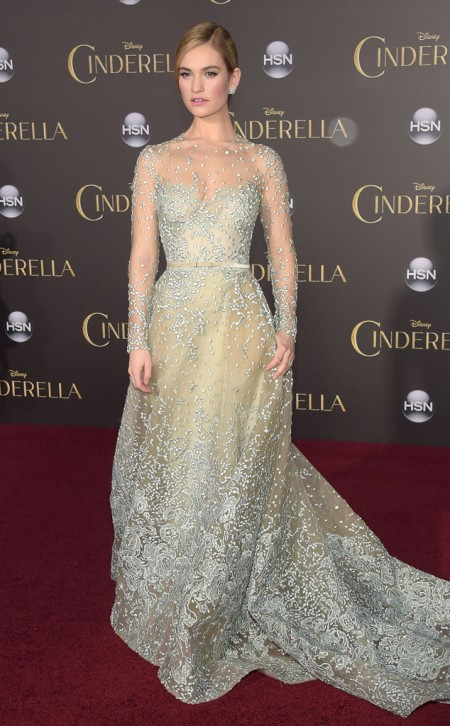 lily-james-cinderella,  Kevin WinterGetty Images