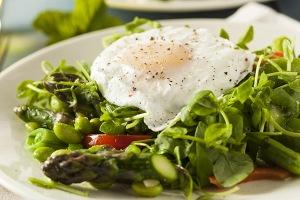 verduras con huevo