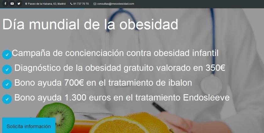 Dia de obesidad 2016 ofertas IMEO